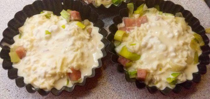 Mini prei quiche met cottage cheese - Knutselen in de Keuken