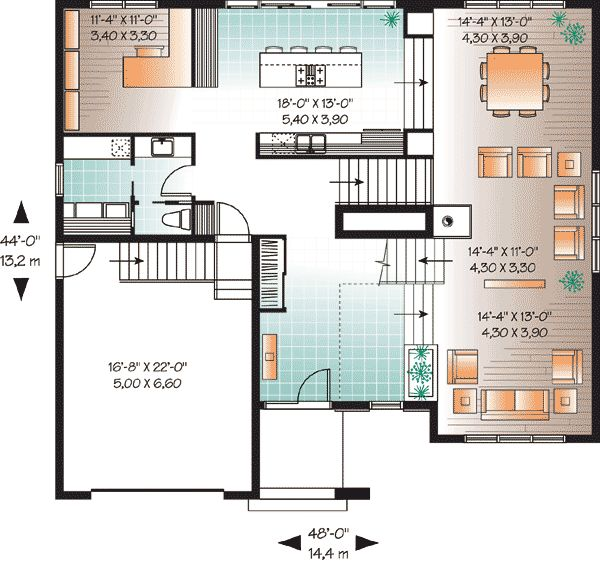 10 best modern house plan with 2nd floor terace 21679dr for 2nd floor house plan