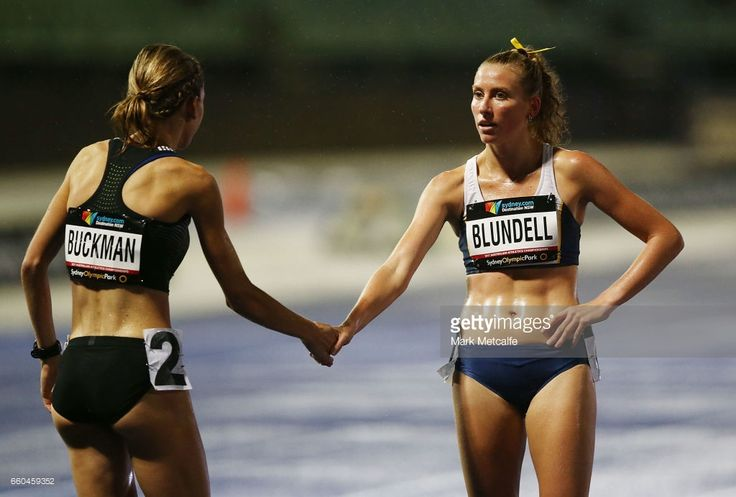 Jenny Blundell of NSW and Zoe Buckman of Victoria compete in the womens open 1500m during day five of the 2017 Australian Athletics Championships at Sydney Olympic Park Sports Centre on March 30, 2017 in Sydney, Australia.