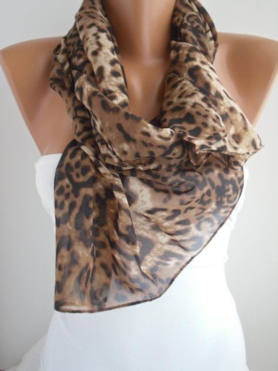 Leopard Chiffon Shawl/Scarf $15.90