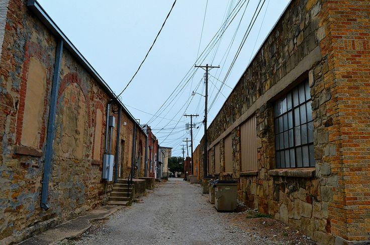 Alley in downtown Brownwood, TX