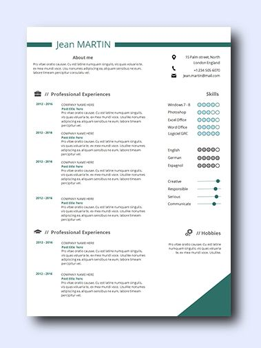 Simply Teal 2 | Even non-creative jobs can benefit from a modern resume as it highlights your creativity, which is a sought-after trait that employers look for and it adds a conservative amount of color and design while remaining professional and clean.
