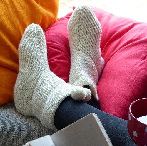 Chaussons So Cosy, tricot débutant