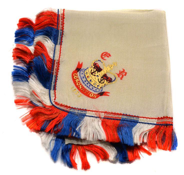 Coronation of HM Queen Elizabeth II Silk Handkerchief Vintage Royalty Royal Souvenir Royal Collectible Royal Coronation by BiminiCricket on Etsy