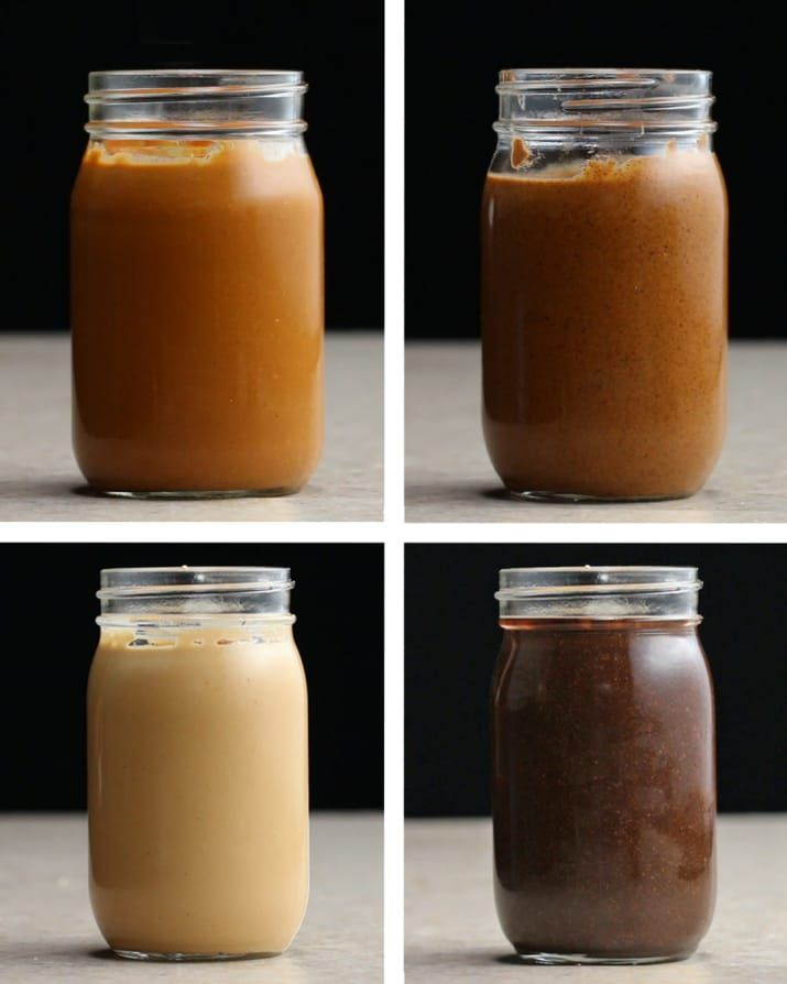 Homemade Nut Butters: Honey Peanut, Vanilla Espresso Almond, Coconut Cashew and Chocolate Hazelnut Butter