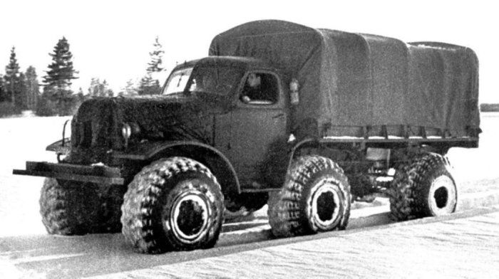 ЗИЛ-157Р - внедорожный прототип гражданского грузовика.
