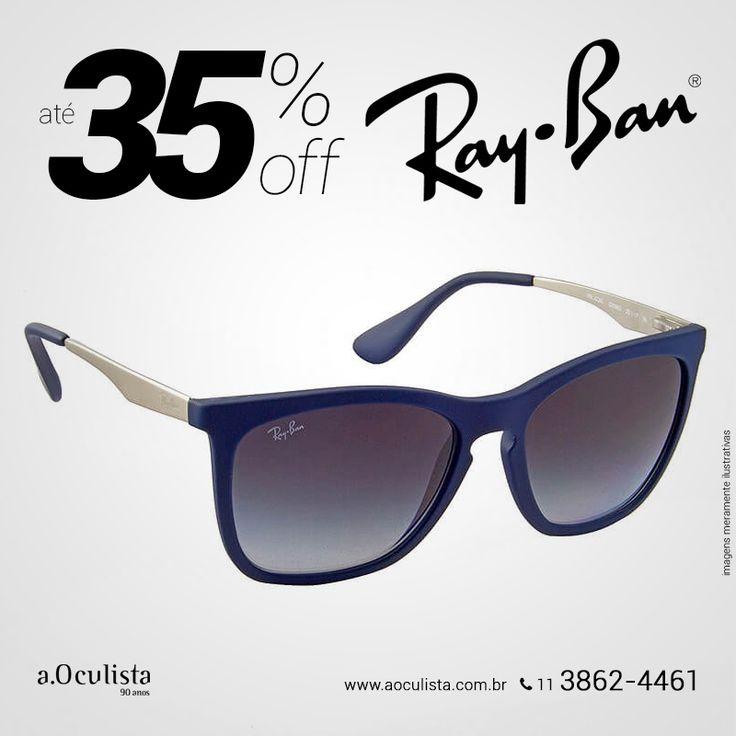 Óculos de Sol Ray Ban com Até 35% de desconto  Compre em Até 10x Sem Juros e frete grátis nas compras Acima de R$400,00  Acesse: www.aoculista.com.br/ray-ban  #rayban #glasses #oculosdesol #oculos #eyeglasses#aoculista