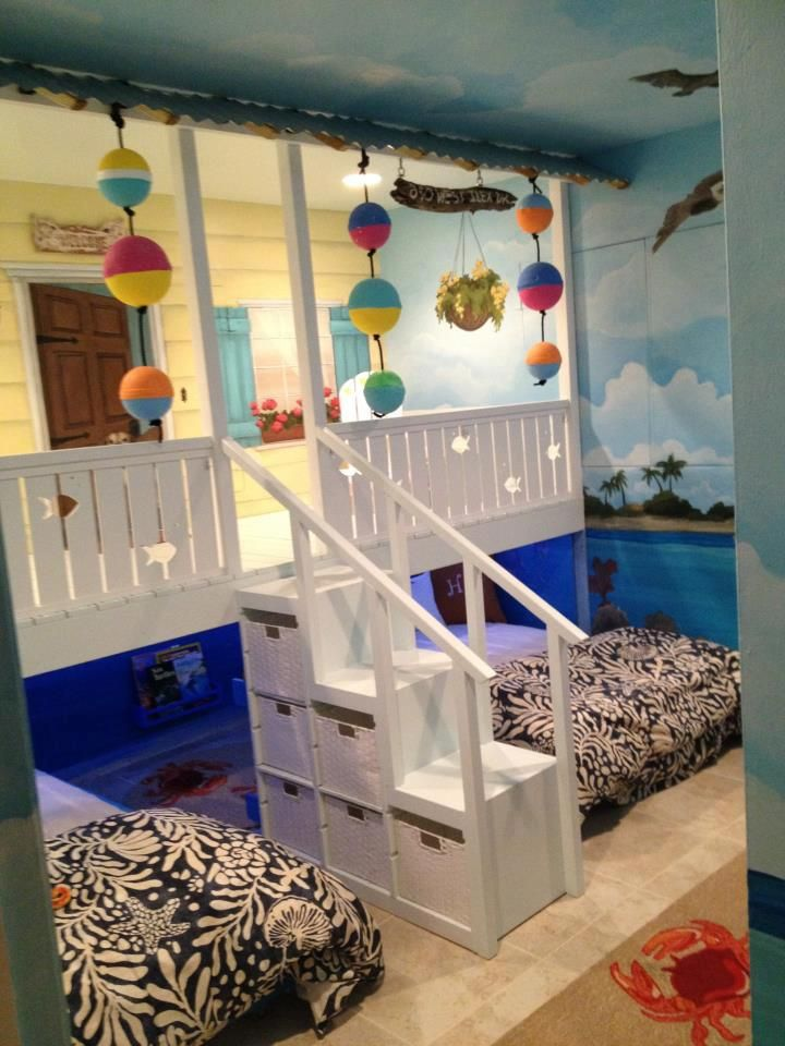 we had a custom bedroom beach shack built like this for nix - Beach Themed Bedrooms