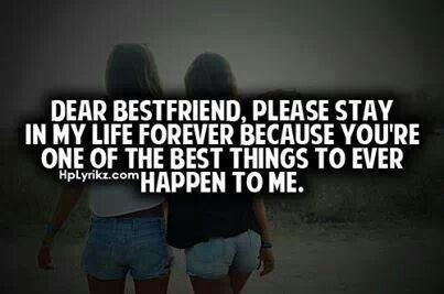 Best friend?..  I miss  having one of those... then again I guess since I don't have one they never really were to begin with...