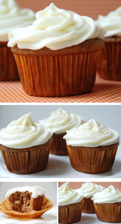 Apple Spice Cupcakes with Cinnamon Cream Cheese Frosting | Best Food Recipes Online