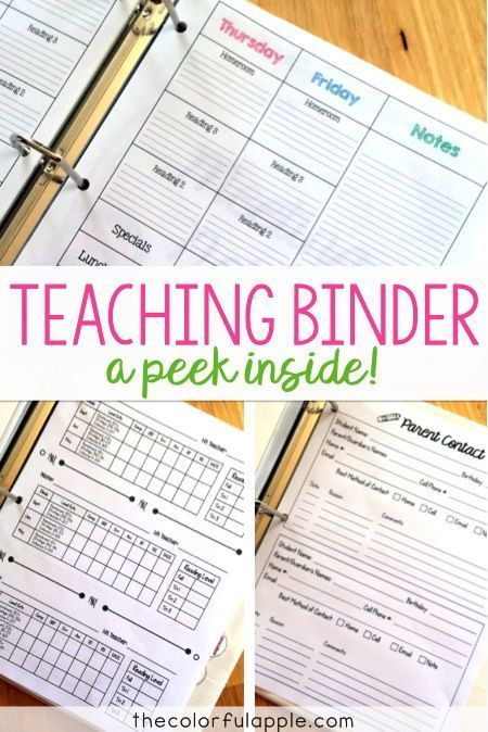 Looking to organize your teaching binder?  Check this one out!  I love how the tabs keep everything accessible and there is so much room for student information.
