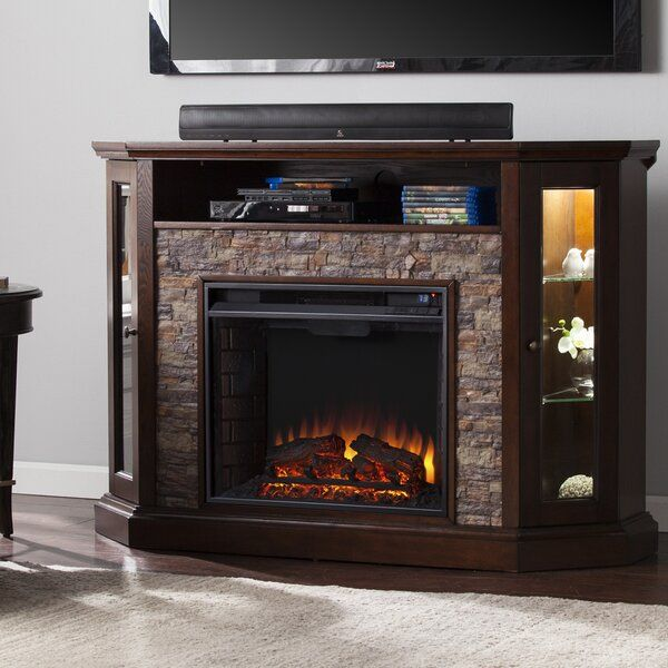 Boyer Tv Stand For Tvs Up To 58 With Electric Fireplace Included In 2020 Electric Fireplace Electric Fireplace Tv Stand Fireplace