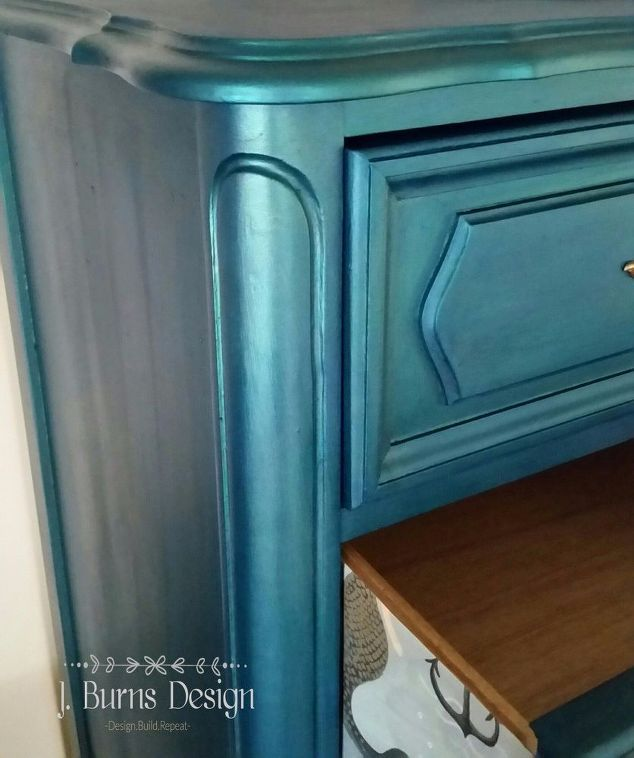 DIY Sparkling Mermaid Lingerie Chest | Paint furniture