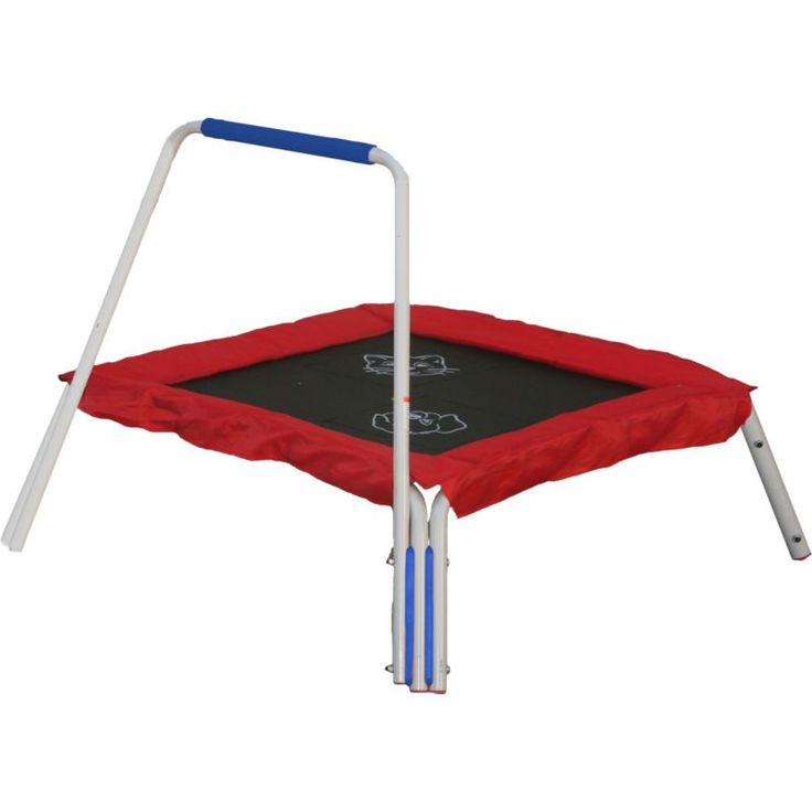 """Skywalker Trampolines 36"""" Interactive Trampoline with Handle, Red"""
