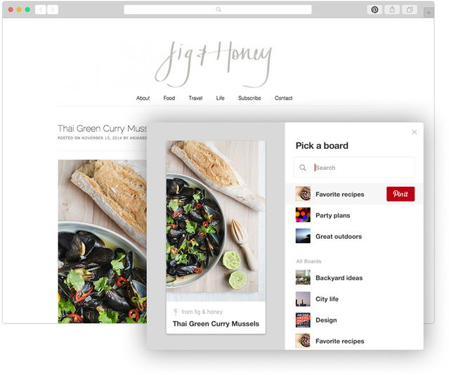 Browser Button Confirmation Page   About Pinterest