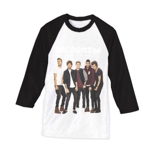"""One direction on the road again 2015 t-shirt. This t-shirt with black sleeve, with the boys print. Call all the directioner this t-shirt is a must if you a real directioner """"baby say yeah yeah yeah """" for this t-shirt. http://www.zocko.com/z/JFbdE"""