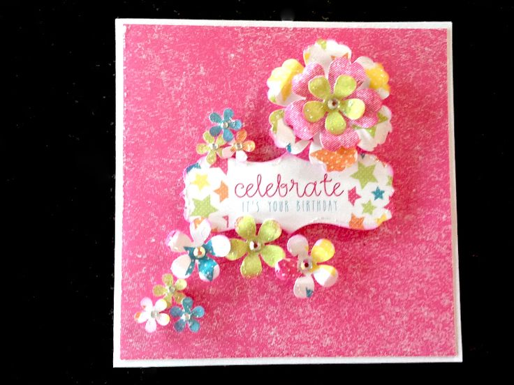 Card made by Gill Cox, using Celebrations kit from Craftwork Cards.
