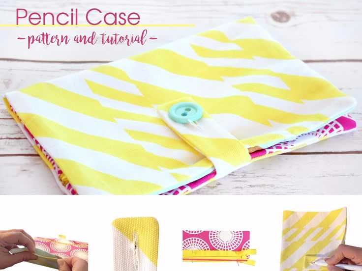 Here's a fast and easy way to use up scraps. You can sew this school pencil case in less than an hour. You could even use it for your sewing pencils...