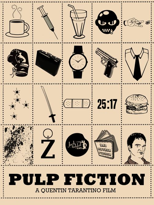 I can say it out loud: I'm a Tarantino fanboy :)  Poster by Peter Stults