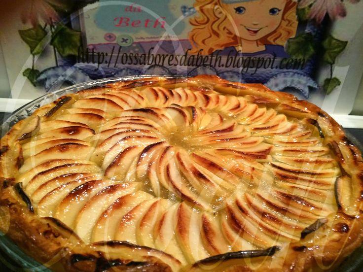 Les Saveurs de Beth  -  Os Sabores da Beth: Tarte aux Pommes / Tarte de Maçãs