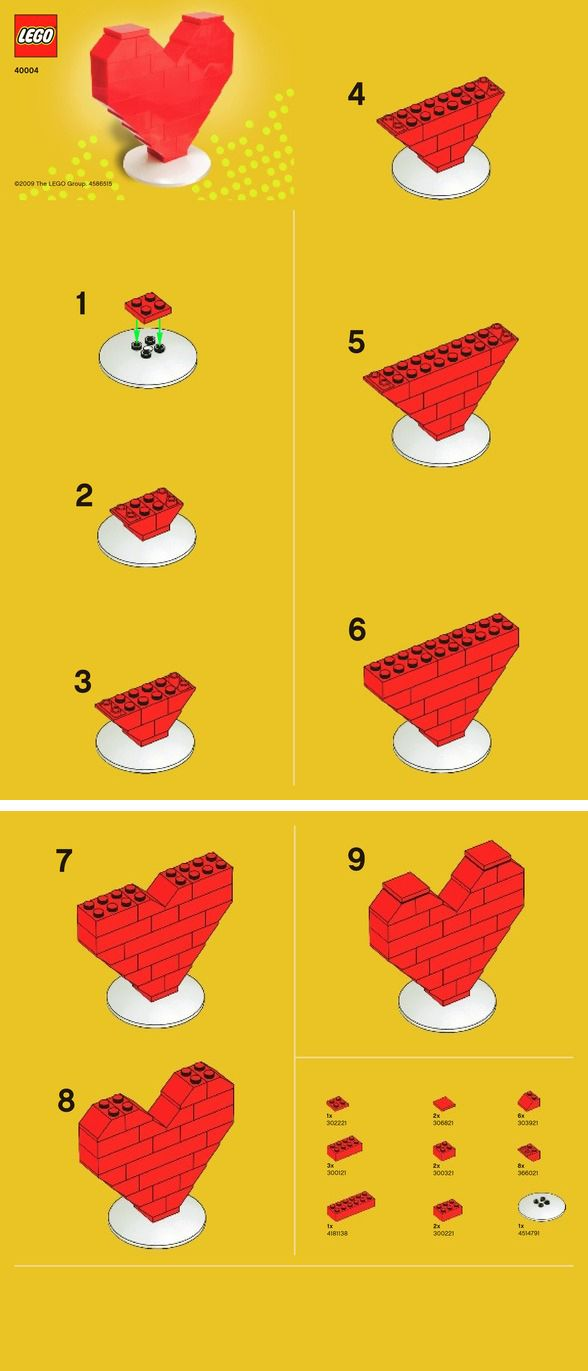 Lego Heart instructions                                                                                                                                                                                 More