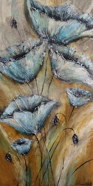 """Saatchi Art Artist Irina Rumyantseva; Painting, """"Golden Poppy Fields"""" #art"""