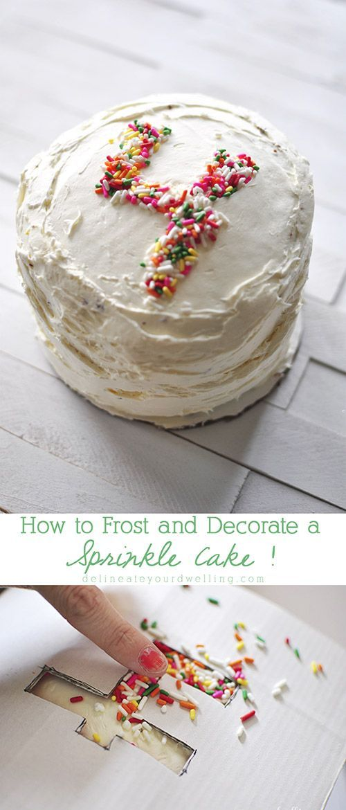 Tips on How to Frost and Decorate a Sprinkle Birthday Cake!  Really quite simple, I will have to give this a try.
