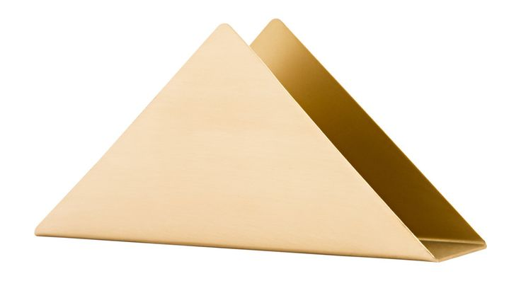 Brass Triangle Stand | perfect for napkins in a kitchen or guest bath or to hold letters on a desk