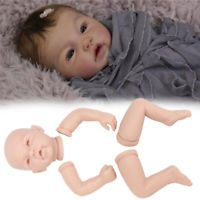 55CM Handmade Full Solid Soft Silicone Kits Reborn Baby Lifelike Dolls Puppe Set