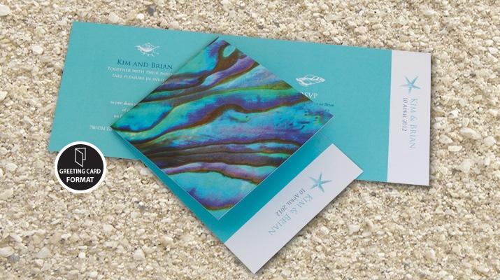 New Zealand Paua Wedding Invitations
