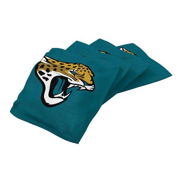Jacksonville Jaguars 4-Pack XL Bean Bag Set - Teal - $27.99