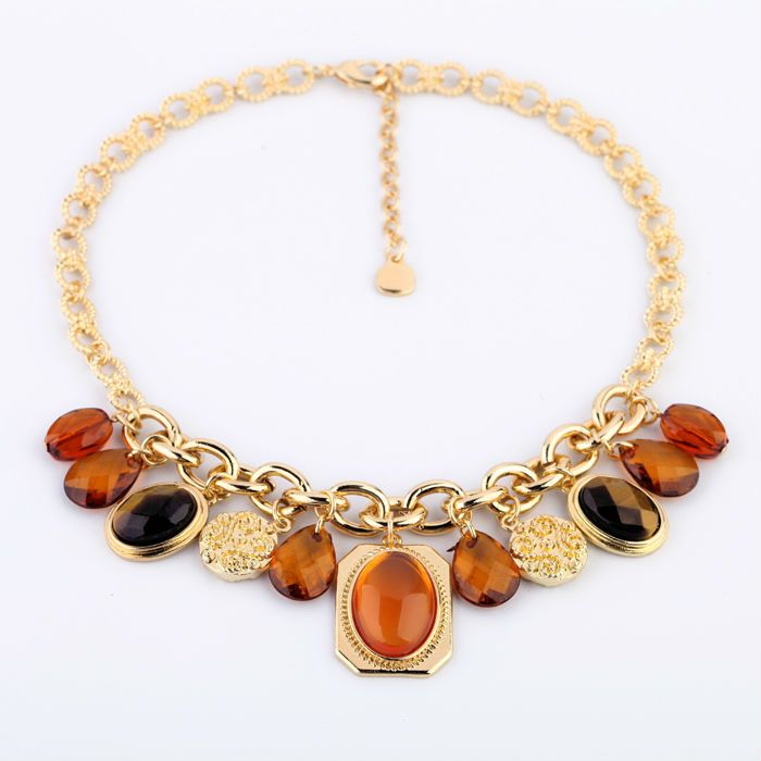Top Selling Choker Necklace New Style  Fashion Jewelry Opal Drop Pendant Necklace Discount Online Shopping www.e1Necklace.com
