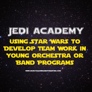 WOW-what a great and fun way to start the new year! Star Wars activities for beginning orchestra and other music programs- On Music Teaching and Parenting