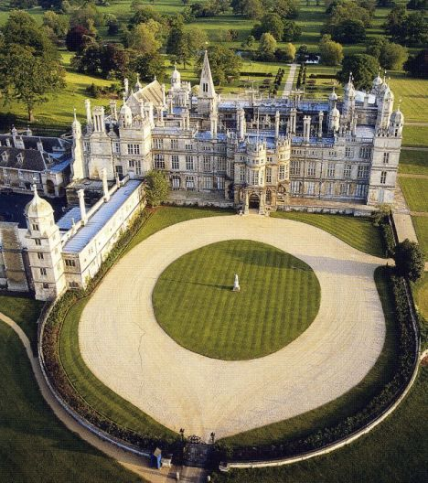Burghley House,UK, gardens designed by Capability Brown