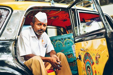 Taxi driver Shantaram Kuthvad sold kulfi (Indian ice cream) for 15 years before he started driving a taxi. A resident of Bhor Taluka in Pune, he is happy to be a part of Taxi Fabric