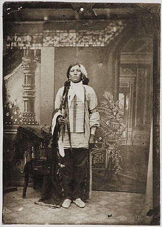 """Crazy Horse - purported to be a photo of him.   """"I salute the light within your eyes where the whole Universe dwells. For when you are at that center within you and I am that place within me, we shall be one.""""  Crazy Horse, Oglala Lakota Sioux (circa 1840-1877)"""