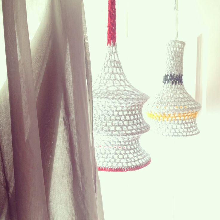 Crochet lamps