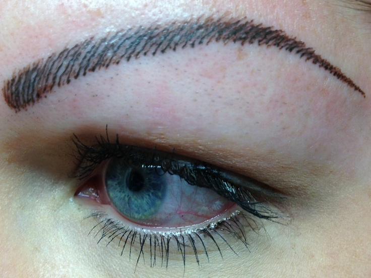 Tattooed eyebrows -- need to make strokes more natural