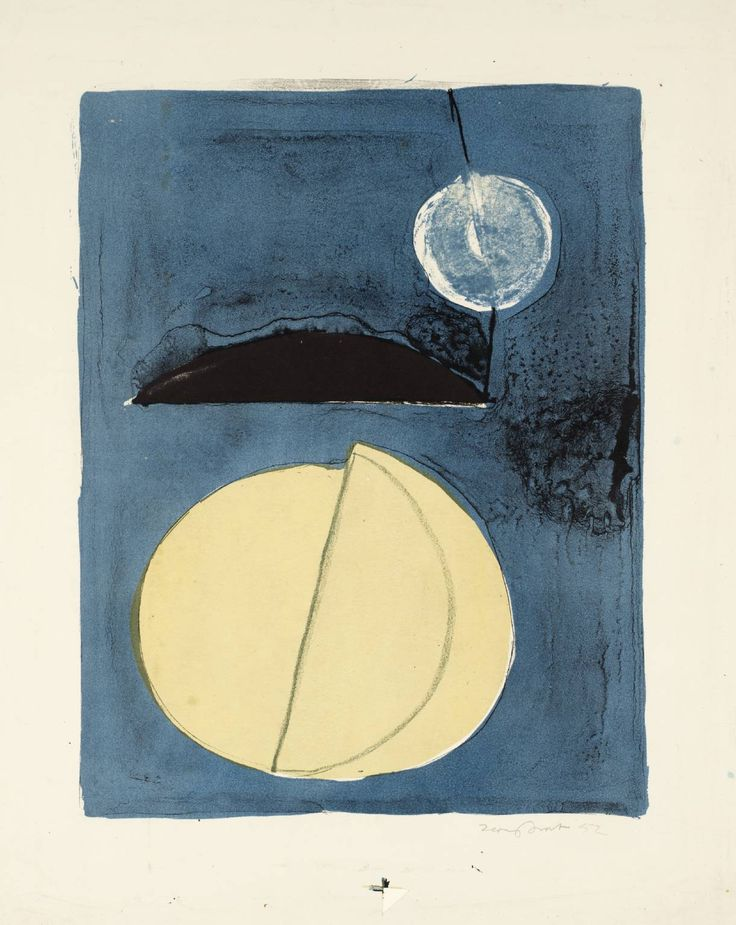 Terry Frost: Blue Moon 1952 - a beautiful early lithograph. What wouldn't I give etc etc...