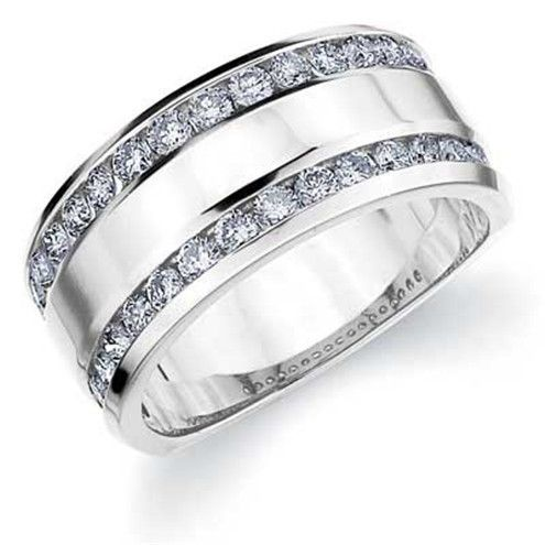 like this for a female wedding band. simple and classy.