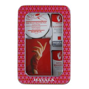 Mavala Nail Rescue 4 Piece Tin is the ultimate manicure kit for weak and soft nails.