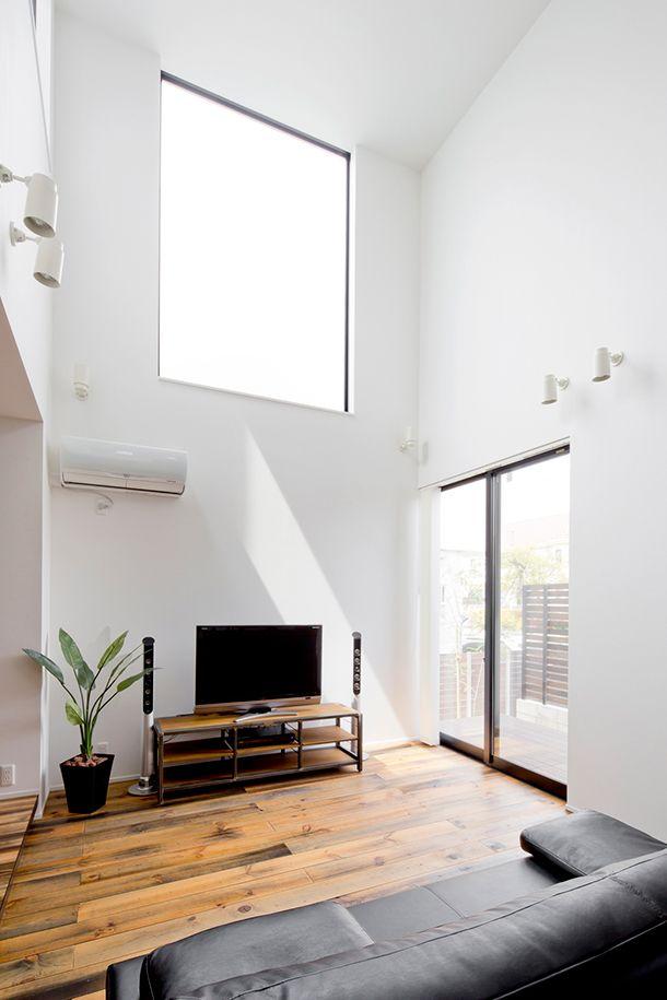 土間のある黒と白を基調とした家・間取り(愛知県知多市)  ローコスト・低価格住宅 狭小住宅・コンパクトハウス   注文住宅なら建築設計事務所 フリーダムアーキテクツデザイン
