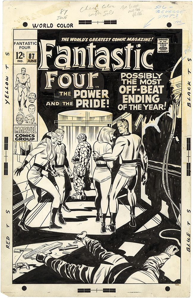 Gallery of Comic Art by Jack Kirby : Fantastic Four, Issue 87, Cover : What if Kirby