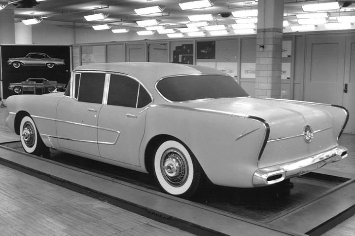 1954 Studebaker Clay Model Auto Conceptual Drawings