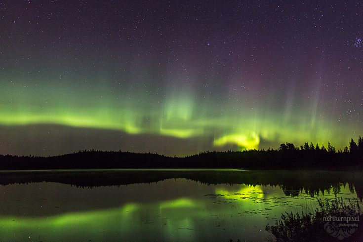 Aurora Reflections - Prince George BC, by Northern Pixel Photography