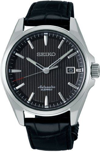 Seiko SARX017 Men's Analog Presage Mechanical Self-Winding Black Watch Check https://www.carrywatches.com