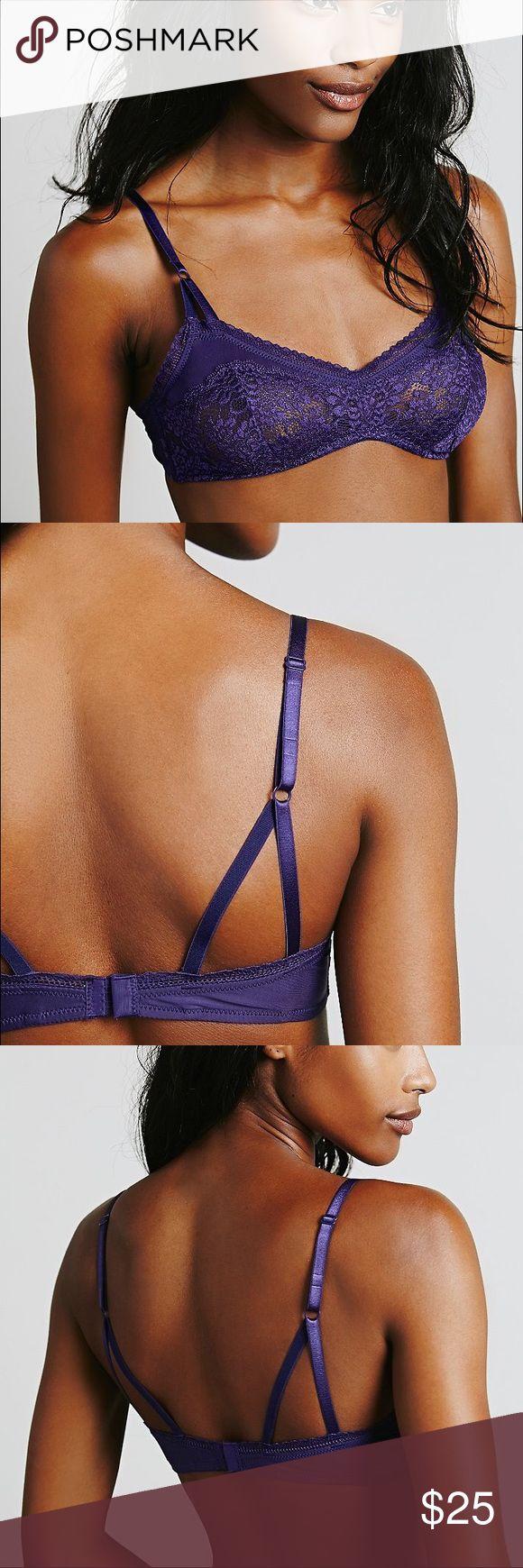 Free People purple lace mystic garden bra Purple lace bra. Free People Other