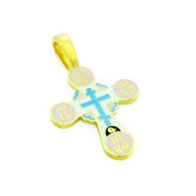 Крест нательный с эмалью из серебра KRSPE0508