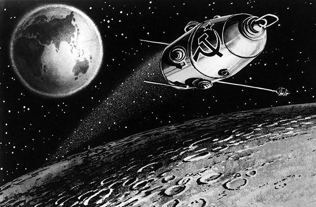 """SOUND: https://www.ruspeach.com/en/news/13920/     31 марта 1966 года на орбиту был выведен советский искусственный спутник Луны - """"Луна-10"""". Запуск был выполнен с космодрома Байконур в Казахстане при помощи ракеты """"Молния"""". """"Луна-10"""" стал первым искусственным спутником Луны. Миссия была полностью успешной.    On March 31, 1966 the Soviet artificial satellite of the Moon - Moon-10 was put to orbit. Launch was executed from Baikonur Cosmodrome in Kazakhstan by means of the Mol"""