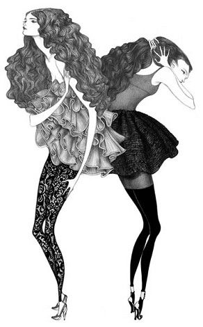 Illustration by Laura Laine. Pen and pencil on paper.